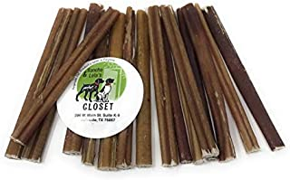 Sancho & Lola's Bully Sticks for Dogs - 6-Inch Standard Grass-Fed Free-Range Grain-Free High-Protein Beef Pizzle Dog Chews Low to Moderate Odor