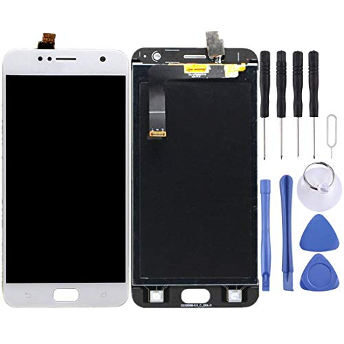 Mingxian Pantalla LCD y digitalizador Asamblea Completa for ASUS ZenFone 4 Selfie / ZD553KL (Negro) (Color : White)