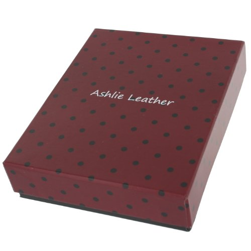 Ashlie Leather Porta Assegni in pelle AC123 Nero