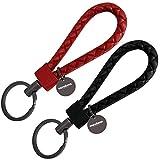mandoma Llavero para hombre y mujer – 2 colgantes para llaves, Negro - Berry Red, Schlüsselbund,