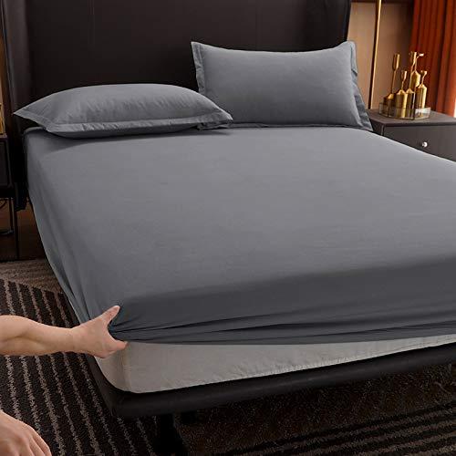 haiba Protector de colchón impermeable, ajustable, transpirable, a prueba de manchas, hipoalergénico y no ruidoso, fácil ajuste, tamaño king, 150 cm x 200 cm + 10 cm