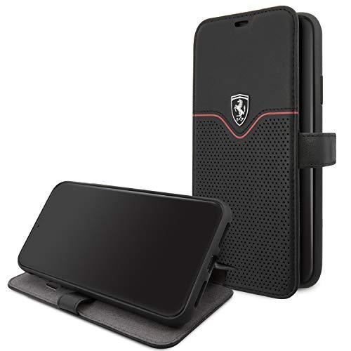 Ferrari Funda iPhone 11 Piel Negro con Tarjetero