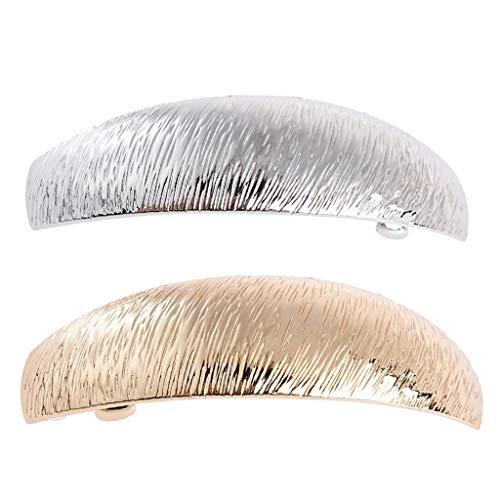 Hellery 2x Barette Clip Cheveux Femme Design Simple Pince à Ressort Accessoire de Coiffure pour Vie Quotidienne