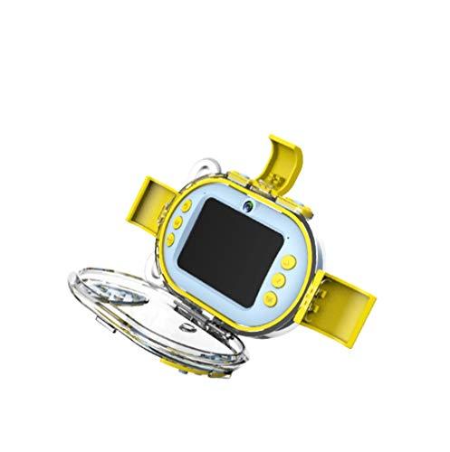 CJCAMERA Kinder WiFi Digitalkamera Donut Kleine Single-Reflex wasserdichte Sport Double Lens Tauchen Kamera Wiederaufladbare Geburtstag Elektronisches Spielzeug,Blau