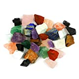 ARZASGO 2 lbs Bulk Natural Crystals Raw Rough Stones for Tumbling, Cabbing, Fountain Rocks, Decoration, Polishing, Wire Wrapping, Wicca & Reiki Crystal Healing - Large Assorted Stones