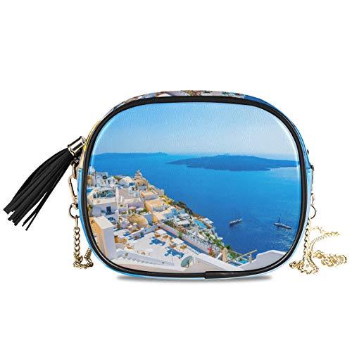 Montoj Grecia Santorini Caldera - Bolso bandolera para mujer