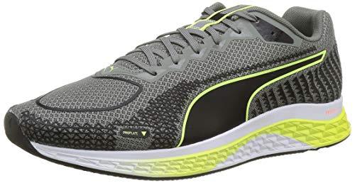 PUMA Speed SUTAMINA 2, Zapatillas para Correr de Carretera Hombre, Gris (Ultra Gray Black/Fizzy Yellow), 41 EU