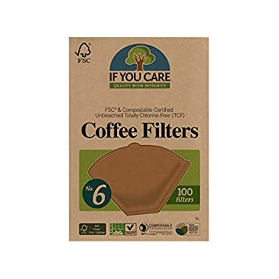 If You Care Unbleached Coffee Filters, #6 - Pack of 100 – Cone Shaped, All Natural, Biodegradable, Compostable, Chlorine Free