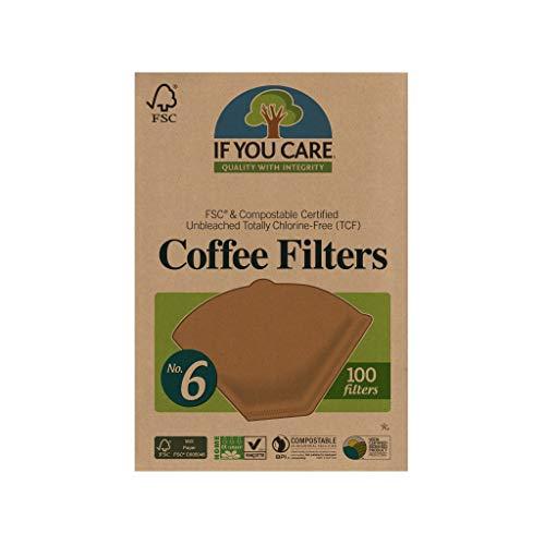If You Care FSC Kaffeefilter, ungebleicht, Nr. 6, 100 Stück