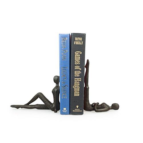 Danya B. ZI11217 Contemporary 2 Piece Ladies Stretching Cast Iron Metal Art Bookend Set