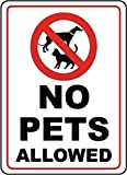 Vinyl Stickers - Bundle - Safety and Warning Signs Stickers - No Pets Allowed Sign H5-3 Pack (3.5' x 5')