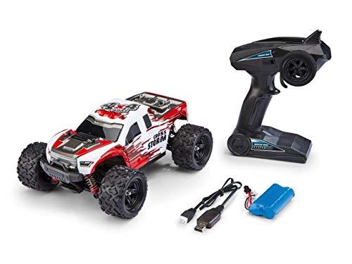 Revell Control 24830 X-Treme schneller RC Truggy Cross Storm, 2.4 GHz, proportional, 4WD Allrad, geländegängig, bis zu 50 km/h ferngesteuertes Auto, Rot