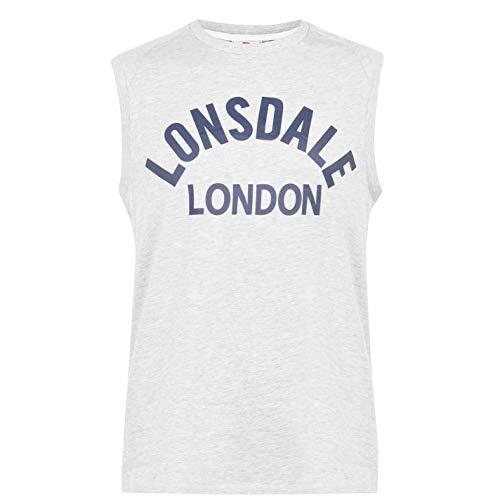 Lonsdale Hombre Box Camiseta Sin Mangas Blanco S