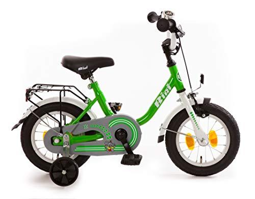 Kinderfahrrad 12 Zoll mit Rücktrittbremse Fahrrad Kinderrad Grün Weiß