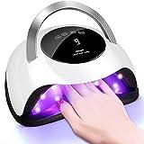 ABsuper Lampe UV Sèche Ongles,120W Séchoir à Ongles Professionnel avec Capteur Automatique Intelligente, 36 LCD, Écran tactile, 10/30/60/99S, Séchage Rapide, pour Toutes Les Gels