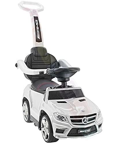 Mercedes GL63 AMG Multi-Funktion Rutschauto Rutscher Lauflernhilfe Lauflernwagen Kinderfahrzeuge Kinderuato TOP Version 2021! (Weiß)