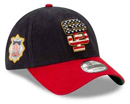 New Era 2019 MLB San Francisco Giants July 4th Flag Logo Baseball Cap Hat Adjust Navy/Red