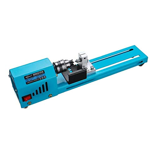 Just E Joy Variable Speed Wood Lathe 150W Speed up to 7000RPM Mini Woodworking DIY Lathe Beads Polishing Machine Aluminum Alloy Base & Steel Structure Drill Chuck for Home Bead Cutting