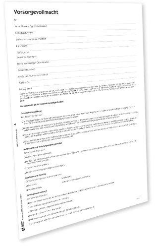 AVERY Zweckform 2210e Vorsorgevollmacht (von Rechtsexperten geprüft, mit vorformulierten Textpassagen zum Ankreuzen, zur Ergänzung der Patientenverfügung) [PDF-Download]