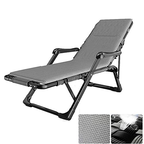 FXBFAG Balkon Lounge Stuhl Büro Schreibtisch Stuhl Folding Recliner, Strandgartenbüro Freizeit Bett Deck Stuhl Sonnenliege, Outdoor Reise Camping Portable Einstellbare Hand Fußmassage