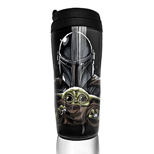 Baby Yoda Star The Wars Mandalorian Taza de café reutilizable aislada taza de viaje para bebidas calientes frías y calientes té y cerveza