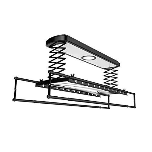 SYTH Aluminium elektrische Wäschetrockner Decke montiert Wäscheständer,intelligente Fernbedienung, vertikale Falten Wäscheständer, mit LED-Licht