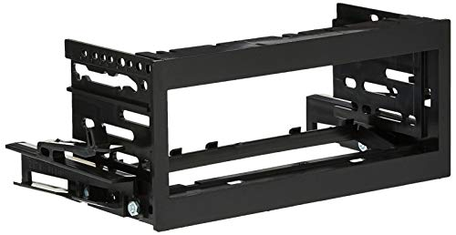 Scosche GM1483B Compatible with 1995-02 GM Full Size Truck ISO/DIN Dash Kit Black