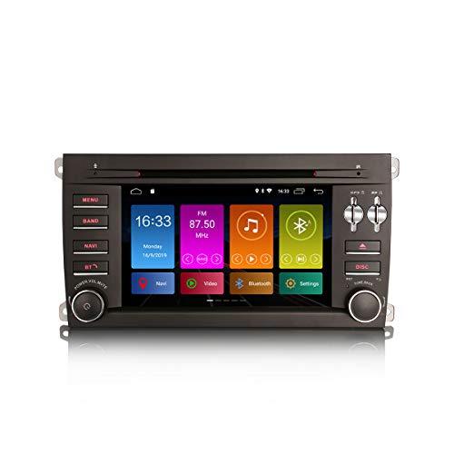 ERISIN 7 Zoll Android 10.0 Autoradio GPS-Navi für Porsche Cayenne DVD-Player Radio Unterstützt Bluetooth WiFi 4G DAB + RDS Mirror- Link TPMS Eingebauter CarPlay DSP-Verstärker