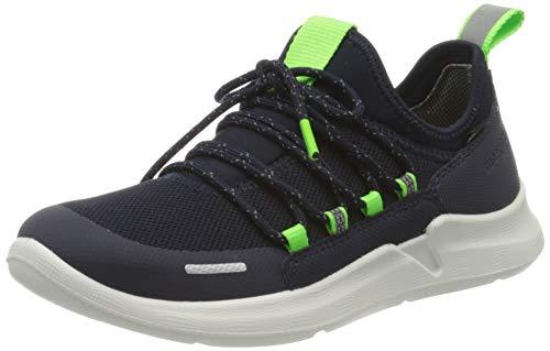 Superfit Jungen THUNDER Sneaker, (Blau/Grün 80), 36 EU