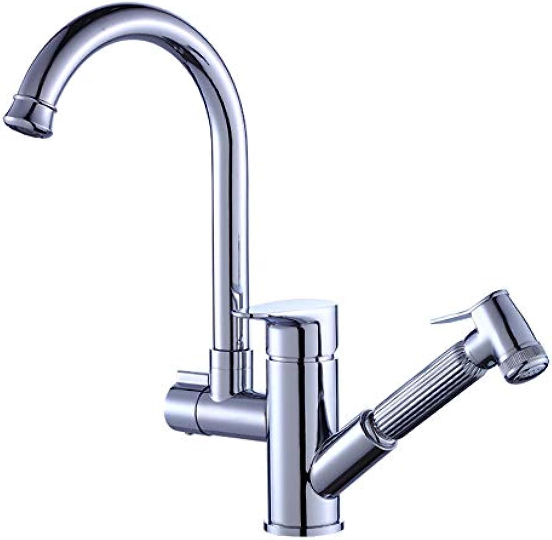 Küchenarmatur kalt und warm Universal Pull Waschbecken Wasserhahn Waschbecken Expansion und Spritzschutz