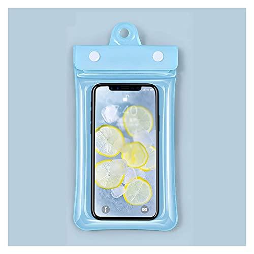 HLD bolsa seca natacion Bolsa de teléfono a prueba de agua con cordón bajo el teléfono de la bolsa de teléfono seco Pantalla táctil Ventana transparente Ventana Airbag Flotante Bolsa de navegación cub