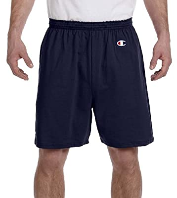 Champion Adult Cotton Gym Shorts, NVY, X-Large