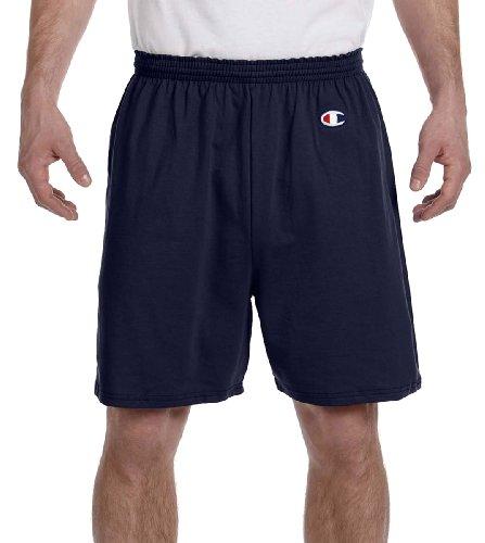 Champion Adult Cotton Gym Shorts, NVY, Medium
