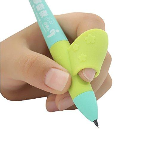矯正 猫背 鉛筆 ペン ボールペン 握り方 持ち方 矯正 グリップ ペン 親指入り 学校 勉強 右手 6個セット