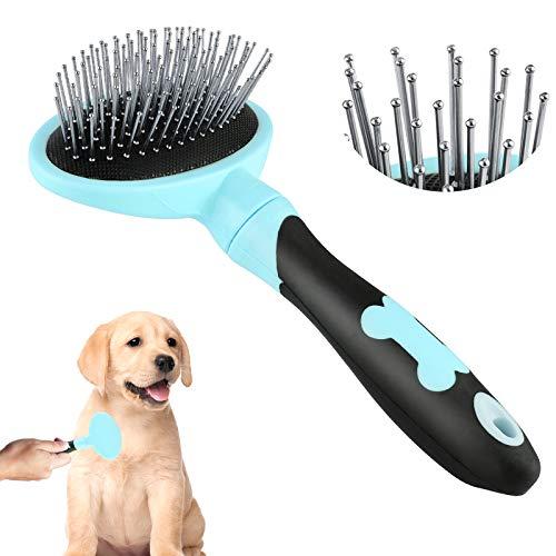 Sirecal Hundebürste Katzenbürste Tierpflegebürste für große bis kleine Hundekatze Haustiere mit kurzen bis Langen Haaren Blau