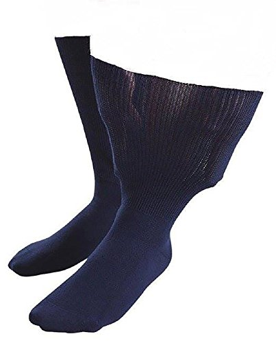 IOMI Sock Shop Footnurse - Herren und Damen socken extra weit b& ödeme beine behandlung ges&heitssocken in 4 Größen und 5 Farbig (45-50 eur, Marine)