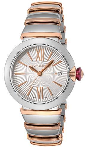 [ブルガリ] 腕時計 ルチェア ホワイト文字盤 18Kピンクゴールド/ステンレススチールベルト LU36C6SSPGD レディース 並行輸入品 シルバー