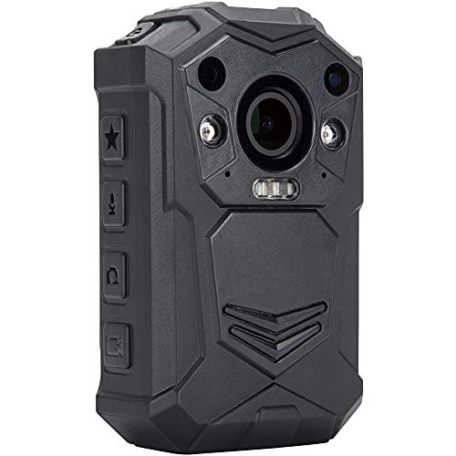 BRIFIELD BR1 Body Camera - HD 1440p, scheda di memoria da 128 GB, visione notturna, GPS | Body Cam per sicurezza e usi personali | Include imbracatura per torace e spalla