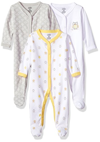 Luvable Friends Unisex Baby Cotton Sleep and Play, Owl, 3-6 Months