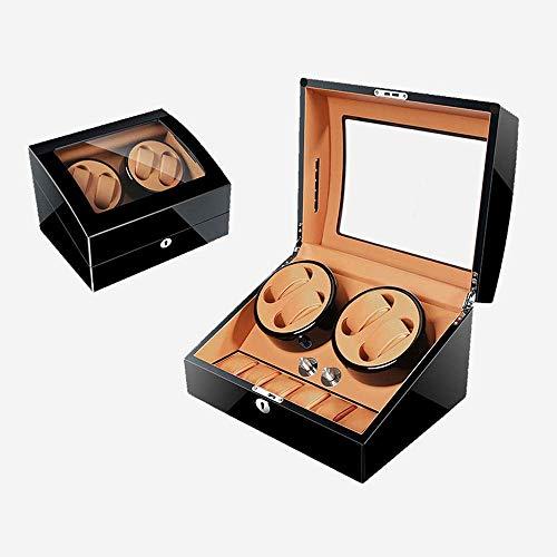 GLXLSBZ Caja enrolladora de Reloj automática Caja enrolladora automática de Reloj con 4 Posiciones de enrollador 6 Espacios de Almacenamiento 4 Modos Carcasa de Madera para Hombres y Mujeres Relojes