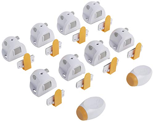 Product Image of the Safety 1ˢᵗ Adhesive Magnetic Lock System, 8 Locks And 2 Keys