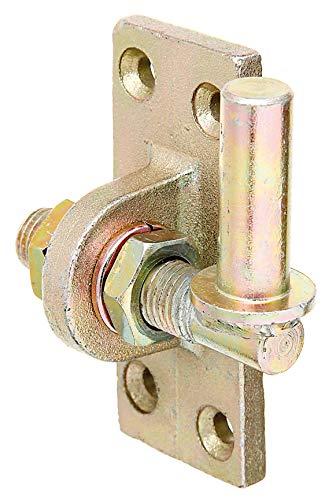 GAH-Alberts 318246 Kloben zum Anschrauben | verstellbar um 20 mm | galvanisch gelb verzinkt | Dornmaß Ø16 mm | Platte 105 x 45 mm