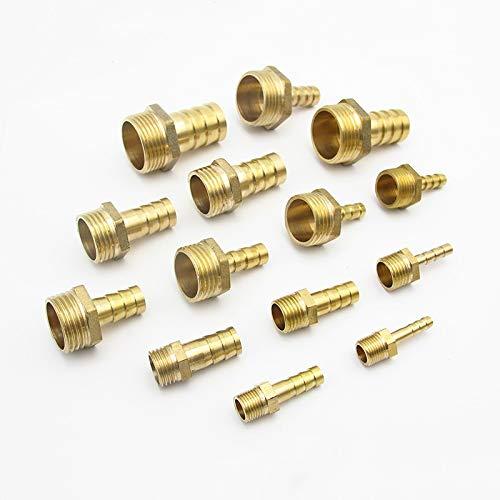 Fashion SHOP Rohrverbindungsstücke 4 mm 6 mm 8 mm 10 mm 19 mm 20 mm 25 mm 12 m Schlauchkupplung x 1/8