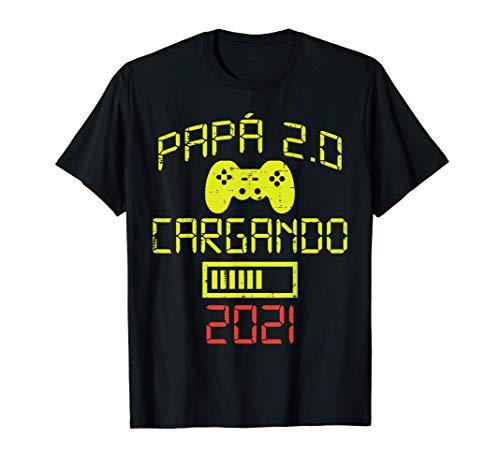 Hombre Futuro Papa 2.0 2021 Humor Anuncio Embarazo Gaming Regalo Camiseta