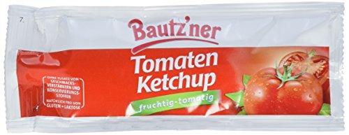 BAUTZ'NER Tomaten Ketchup – 150 x 20 ml Pack – Protionsbeutel – Tomaten-Ketchup – Original Bautzner Rezeptur – Ohne Zusatz von Konservierungsstoffen und Geschmacksverstärkern – Ketchup