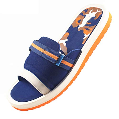 caihuashopping Anti-Slip Slippers Men's Slippers Fashion Sandals Flat Slip Slippers for Indoor and Outdoor Use Summer Sandals (Color : Orange, Size : 7#)