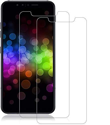 MINZHOU G8s ThinQ Vetro Temperato (2 Pack), [Chiarissimo][Alta sensibilità][Antigraffio][No-Bubble][Easy-install] Proteggi schermo per LG G8s ThinQ