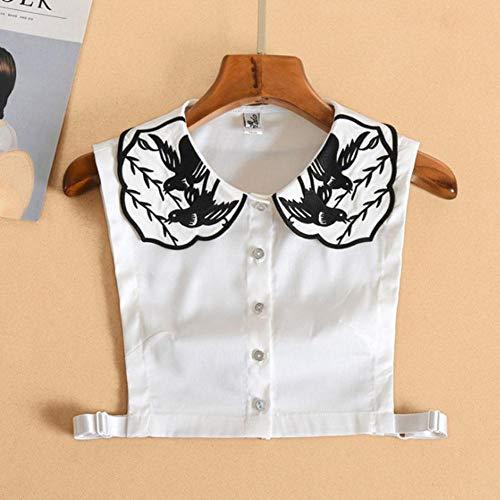 A558 Kraagie mit elegantem Stickerei-Kragen für Damen, abnehmbare Kragen, Bluse,...