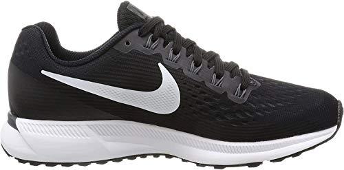 Nike Damen Wmns Air Zoom Pegasus 34 Laufschuhe, Schwarz (Black/White-Dk Grey-Anthracite), 40.5 EU