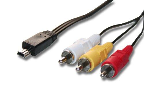 vhbw Audio Video AV Composite Kabel kompatibel mit Canon Ixus 130is, 132, 135, 140, 160, 165, 180, 185, 190, 200, 200is Kamera, Digitalkamera